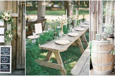 Creative Decorations for a Rustic Wedding 2017