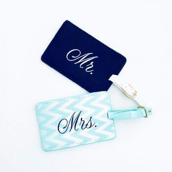 Etiquetas de equipaje Mr & Mrs- Compra en The Wedding Shop