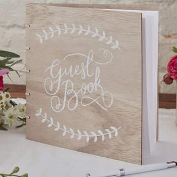 Libro de firmas madera boho chic- Compra en The Wedding Shop