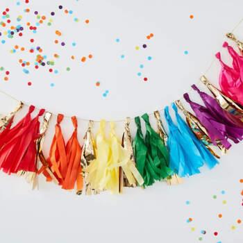 Borlas decorativas arco iris- Compra en The Wedding Shop
