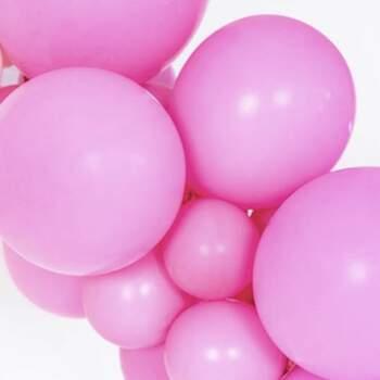 Ballons Fuchsia Pastel Différentes Mesures - The Wedding Shop !