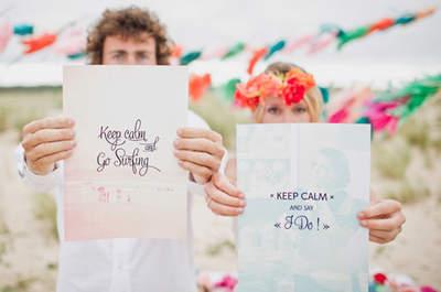Matrimonio estilo surfero