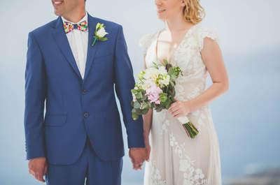 Un cuento de hadas en Santorini: la boda de Asia y José