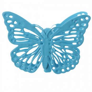 Mariposas Turquesas Con Pinza 4 Unidades- Compra en The Wedding Shop