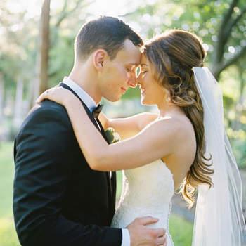 Cabelo de noiva semi preso com véu | Credits: Ben Q Photography