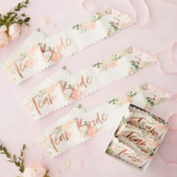 Echarpes Team Bride Floral 6 Pièces - The Wedding Shop !