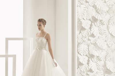 Entdecken Sie die schönsten Brautkleider mit quadratischem Ausschnitt für 2017! Ein Klassiker, der niemals stirbt