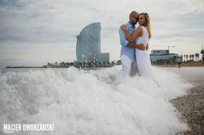 Ślub w Polsce i sesja w Barcelonie! Bajeczne zdjęcia!