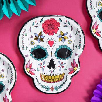 Platos Dia de los Muertos Esqueleto 6 piezas- Compra en The Wedding Shop