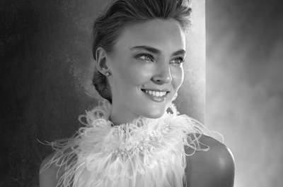 Novias con plumas: las propuestas más chic y sofisticadas