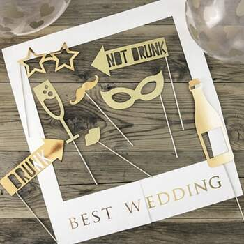 Accessoires Photocall Best Wedding Gold - The Wedding Shop !