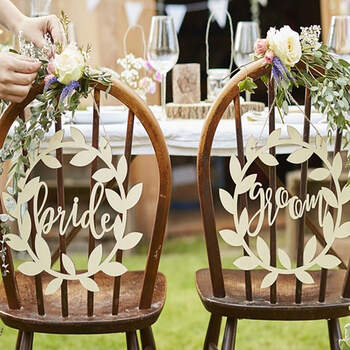 Foto: Decoraciones En Madera Bride y Groom