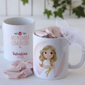 Taza de Comunión Niña con Caramelos- Compra en The Wedding Shop