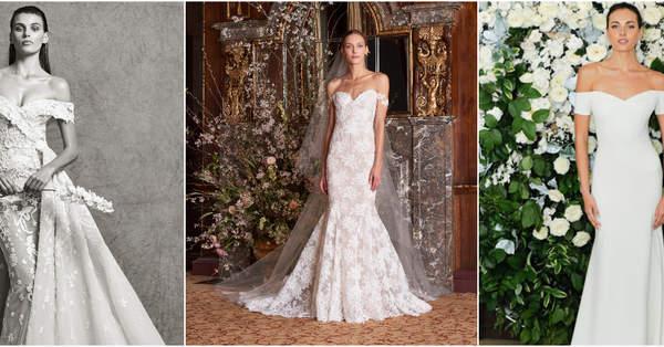 fb1c1a9835 Suknie ślubne z dekoltem hiszpańskim  szyk i elegancja!
