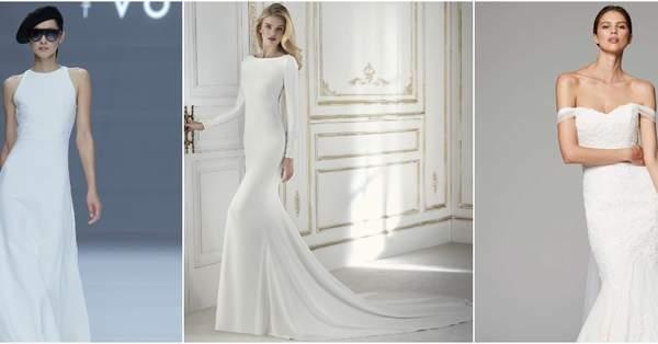 e54210ed8a09 50 abiti da sposa semplici  quando l essenziale è visibile agli occhi