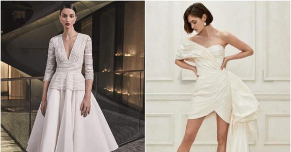7a007be35c 45 vestidos de novia cortos  ¡ser diferente también es una sofisticada  opción!