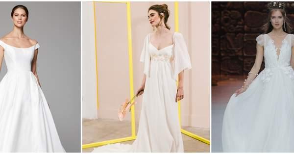 ea2d962cb Vestidos de novia para mujeres bajitas  ¡65 diseños para lucir estilizada y  grandiosa!