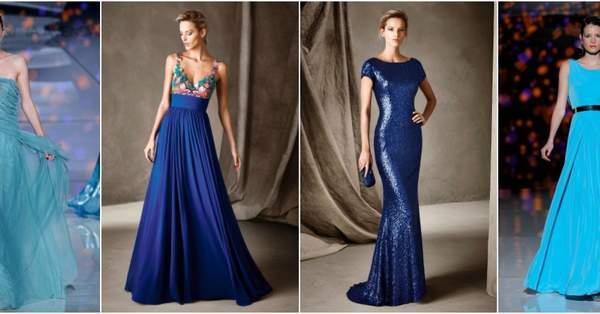 7e39f1d450 44 vestidos de festa azuis longos 2017. Espetaculares!