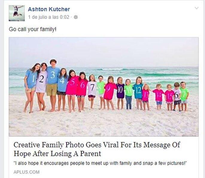 Ashton Kutcher Facebook