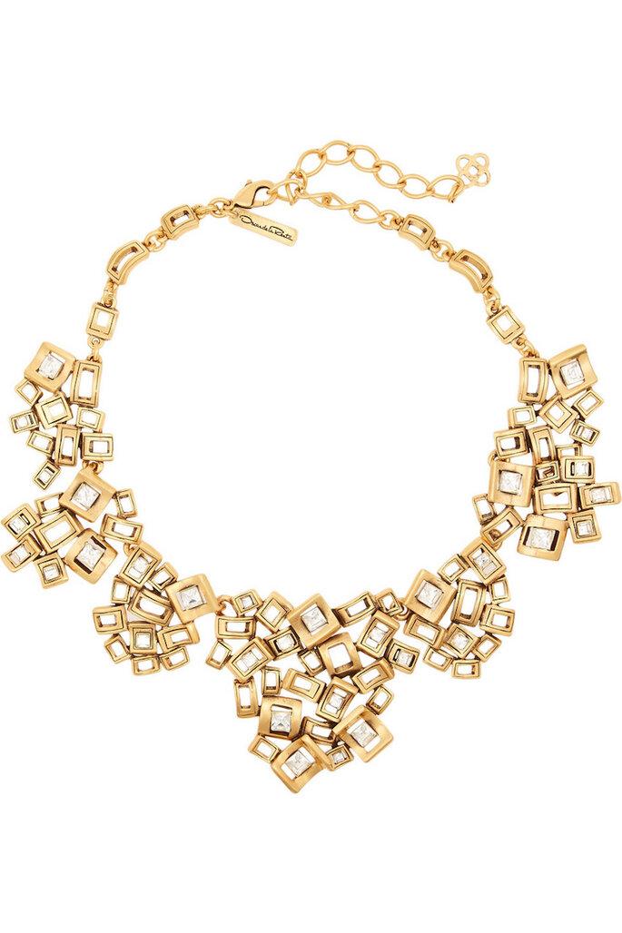 Accesorios en color dorado para invitada fashionista - Oscar de la Renta en Net a Porter