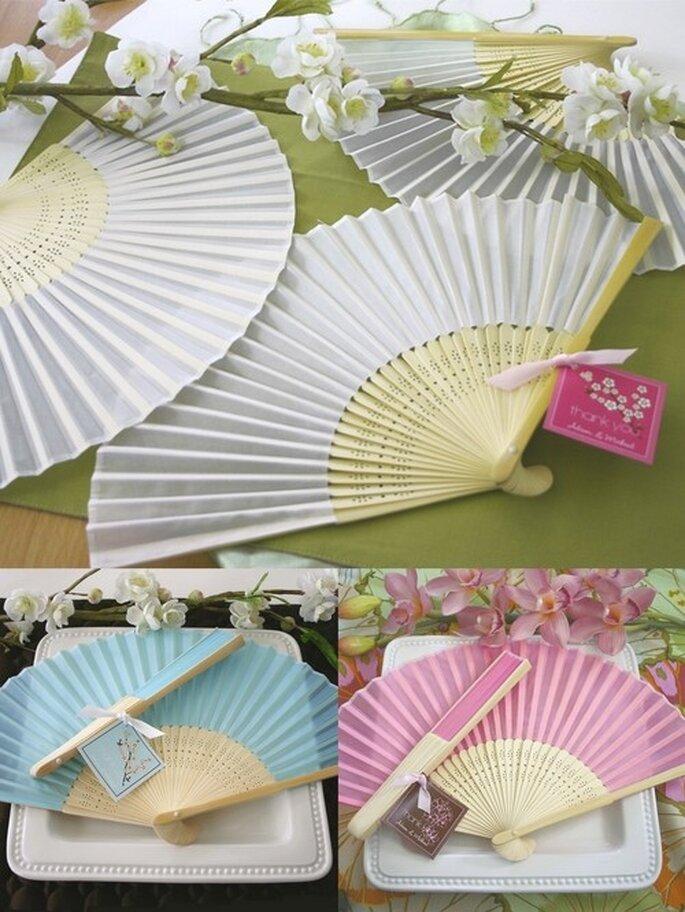 Abanicos de seda. Fotos: Tienda Virtual Invita