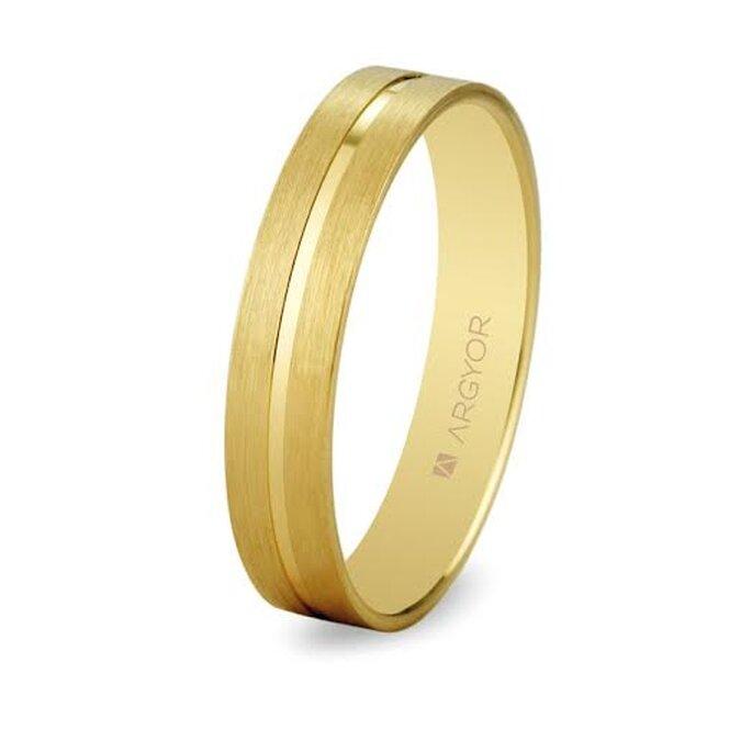 Alianza de boda plana en oro - Foto Argyor