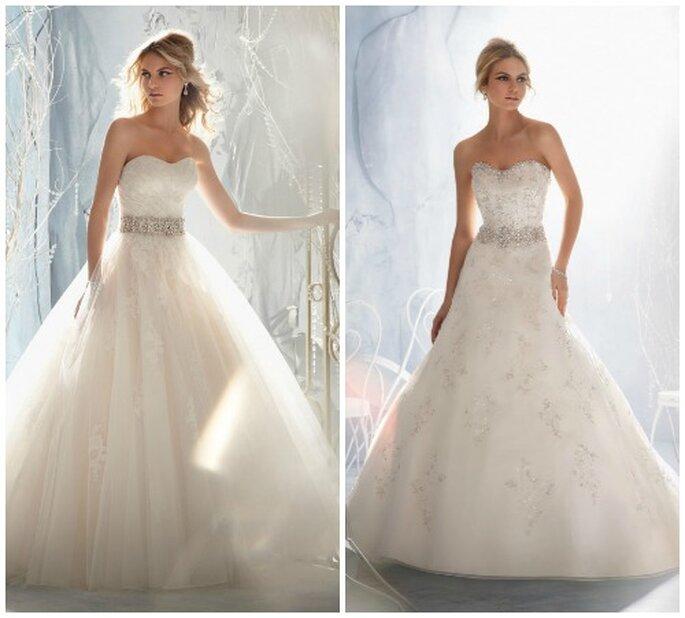 Scollatura a cuore e cintura gioiello...e l'abito da sposa perfetto è servito! Mori Lee 2014 Bridal Collection. Foto: www.morilee.com