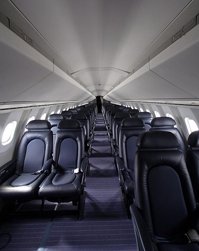 Vista interior del avión Concorde