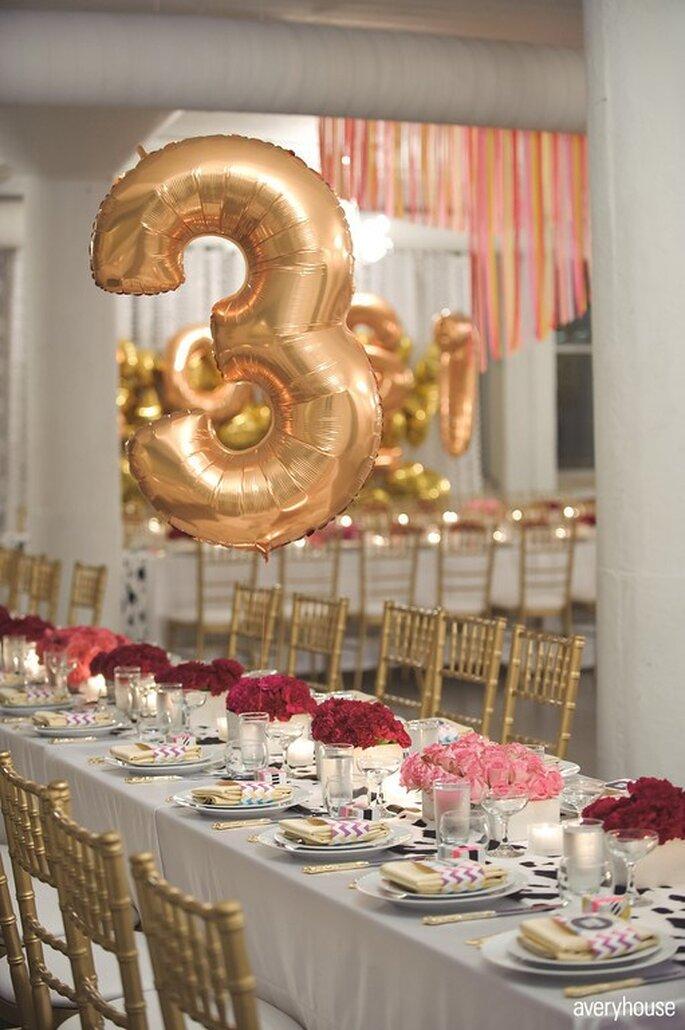 Decoración de boda con globos - Foto Avery House