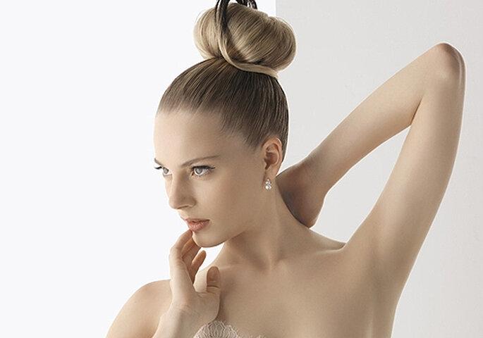 top stunning moo de bailarina de inspiracin romntica foto rosa clar with peinado de boda with - Peinados De Moos