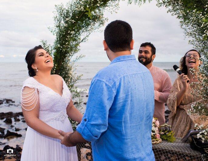 Celebrantes: Liandra Zanette e Emerson Tononi - Foto: Edson Furtado Fotografia