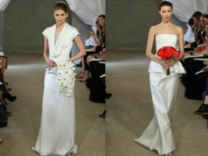 La sobrietà è la chiave dell'eleganza per Carolina Herrera. Spring Collection 2013