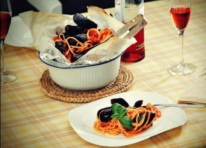 Spaghetti al cartoccio. Foto: youtube.com
