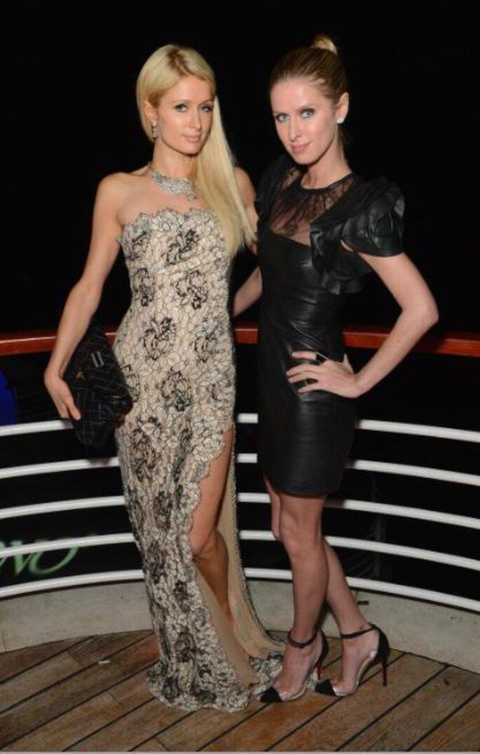 Nicky y Paris Hilton, Festival de Cannes 2012. Foto de Image.net.