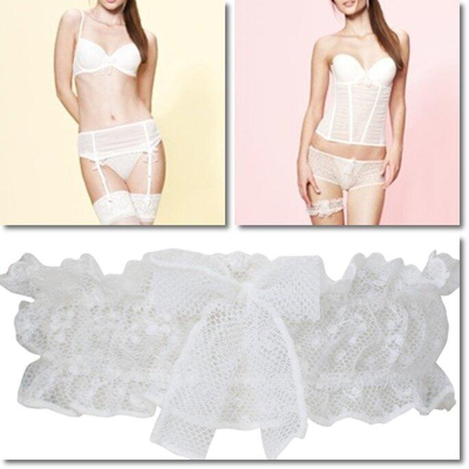 Modelli di lingerie da sposa Vanity Fair 2013. Foto: Vanity Fair