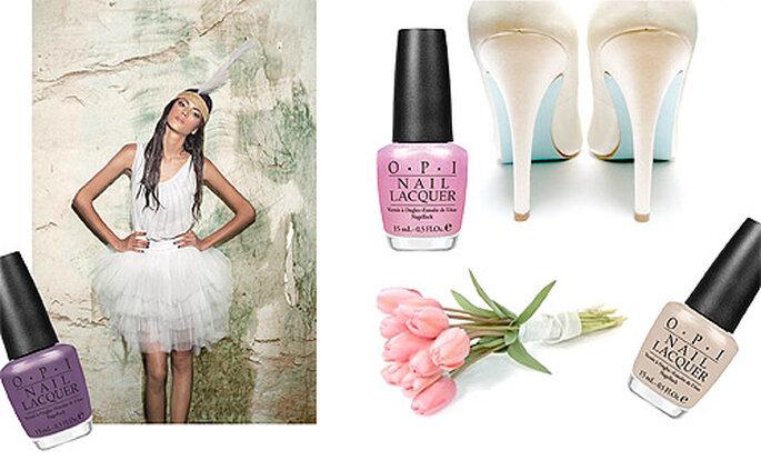 Ongles de mariées par OPI pour le printemps-été 2012. Photo: OPI