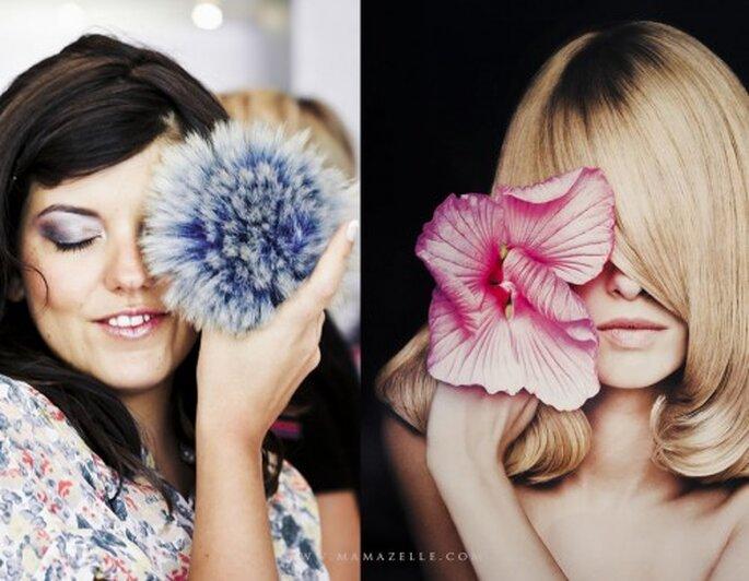 Ein glamouröses Augen-Make up betont ihre Augen – Foto: mamazelle.com