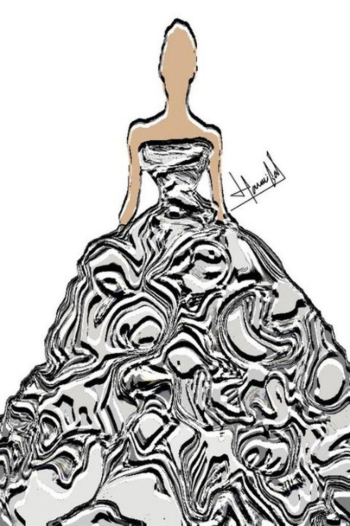 Boceto de la nueva colección de vestidos de novia Hanibal Laguna 2012
