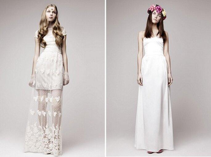 Los vestidos pretenden evocar a tiempos pasados. Foto: Otaduy.