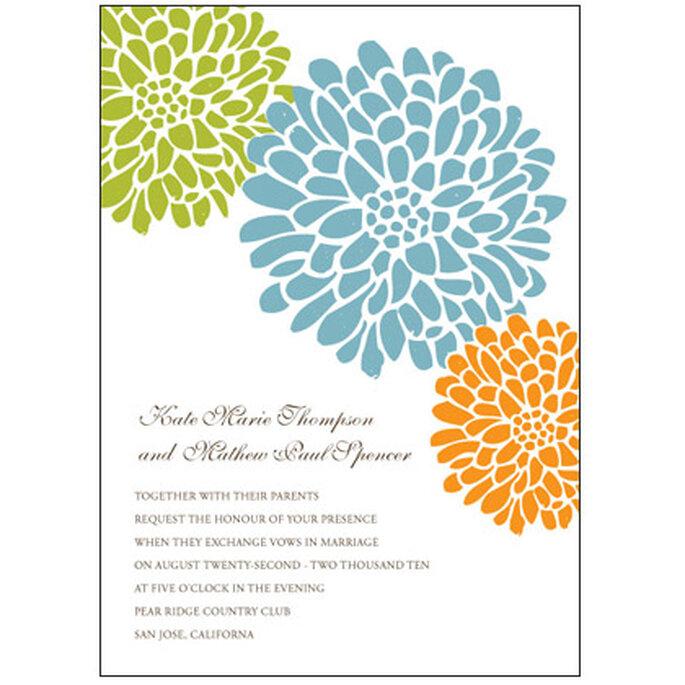 Pode adaptar e imprimir estes e outros modelos de convites de casamento - www.downloadandprint.com