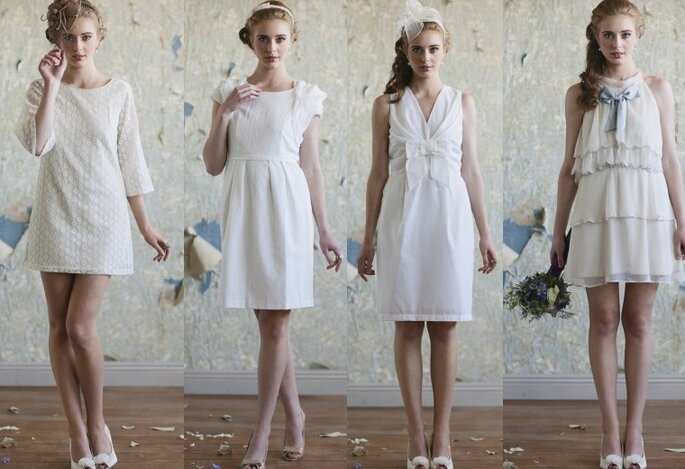 Vestidos de novia cortos estilo vintage de Ruche