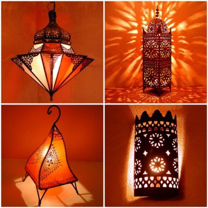 Eisenlaternen eignen sich für elektrische und für Kerzenbeleuchtung. Sie haben einen einzigartigen Licht - Schattenwurf www.maghrebart.de/Orientalische-Lampen