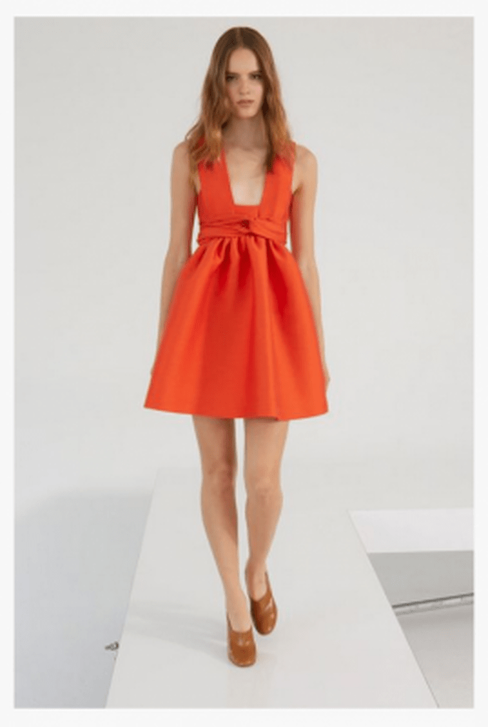 Robe de cocktail orange - Photo Stella Mc Cartney