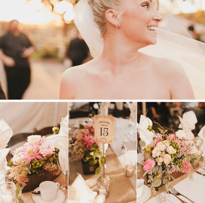 Centros de mesa distintos para cada mesa de boda. Sweet Little Photographers
