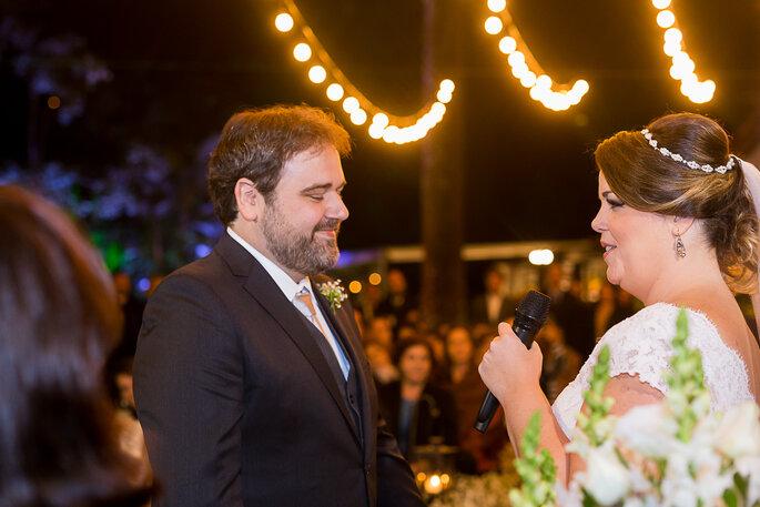 Noiva recita votos de casamento