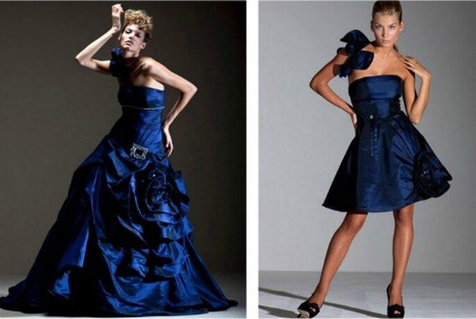 Il blu è uno dei colori sempre presenti nella Collezione di Gritti Spose
