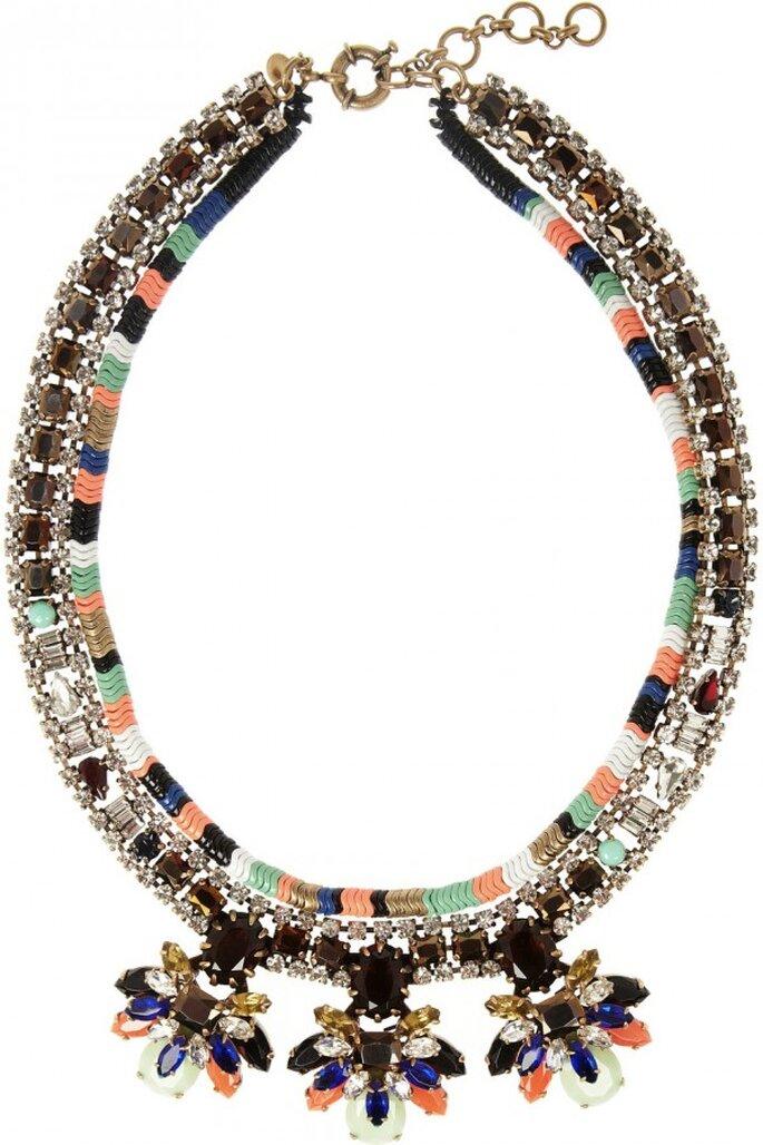 Statement necklaces para novia en tendencia - Foto JCrew