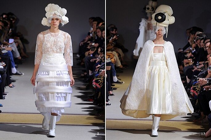 En sus diseños también se intuye a la novia del futuro. Fotos: Pierre Antoine