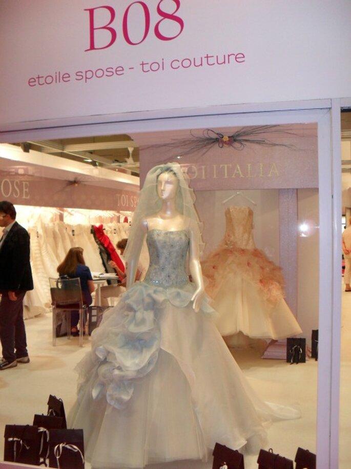 Splendidi abiti delle Collezioni 2013 da ammirare direttamente negli stand. Foto: Sì Sposaitalia Collezioni