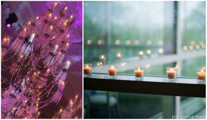 Decora la boda con lámparas estilo Halloween o velas. Foto: Jen Lynne y Boutique de tres